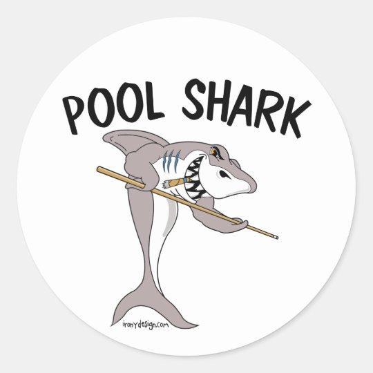 Pool Shark Classic Round Sticker
