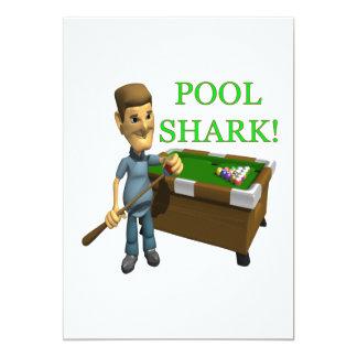 Pool Shark 5x7 Paper Invitation Card