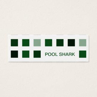 POOL SHARK (mod squares) Mini Business Card