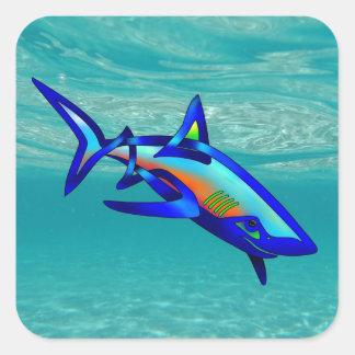 Pool Shark Square Sticker