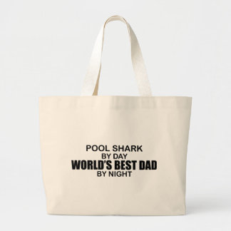Pool Shark World's Best Dad by Night Tote Bags
