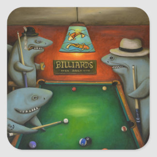 Pool Sharks Square Sticker