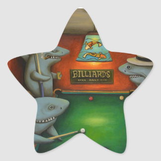 Pool Sharks Star Sticker