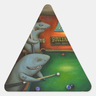 Pool Sharks Triangle Sticker