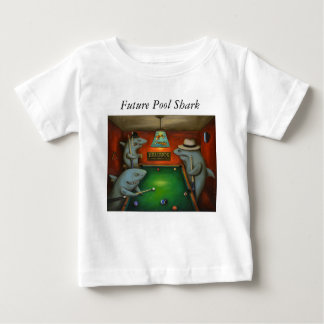 Pool Sharks with Lettering Baby T-Shirt