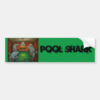 Pool Sharks with Lettering Bumper Sticker