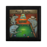 Pool Sharks with Lettering Jewelry Box