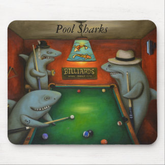 Pool Sharks with Lettering Mouse Pad