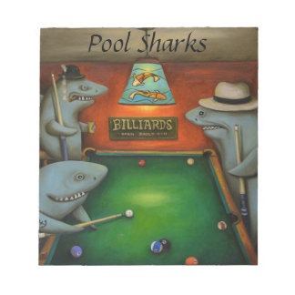 Pool Sharks with Lettering Notepad