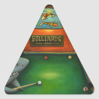 Pool Sharks with Lettering Triangle Sticker