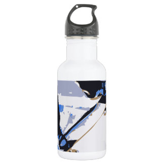 Pool Skating Skateboard 18oz Water Bottle