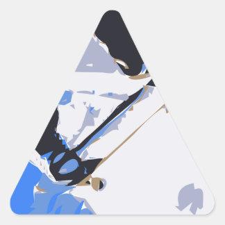 Pool Skating Skateboard Triangle Sticker