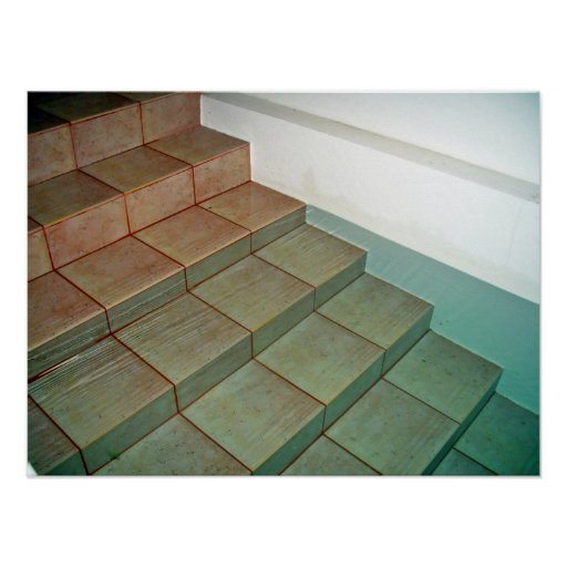 Pool Stairs Poster