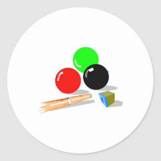 Pool Stick and Balls Classic Round Sticker