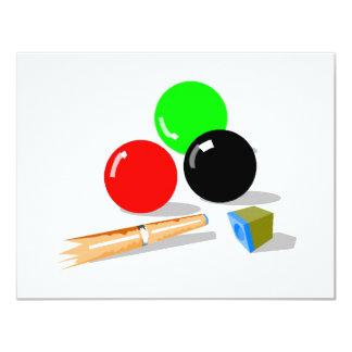 Pool Stick and Balls Custom Invite