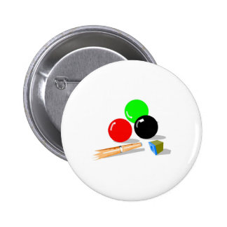Pool Stick and Balls Pinback Button