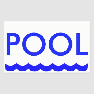 POOL sticker for Real Estate for Sale Sign