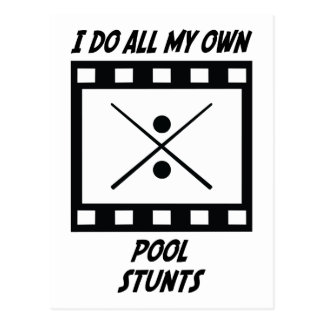 Pool Stunts Postcard