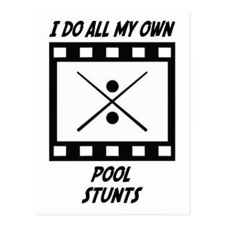 Pool Stunts Post Cards