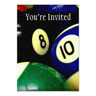 Pool Table Balls Grunge Style Card