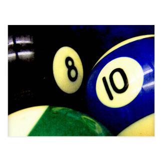 Pool Table Balls Grunge Style Postcard
