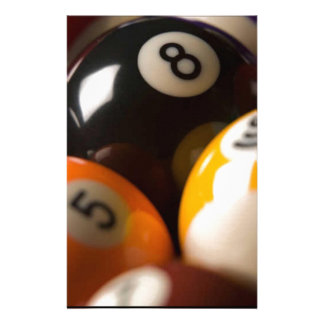 pool table balls customized stationery