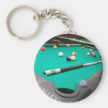 Pool Table Basic Round Button Keychain