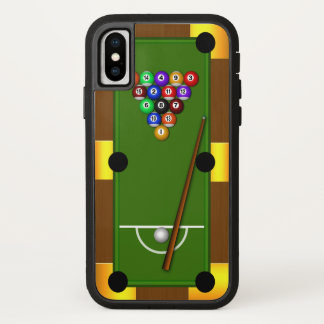Pool Table Billiards 8 Eight Ball Tough Xtreme iPhone X Case