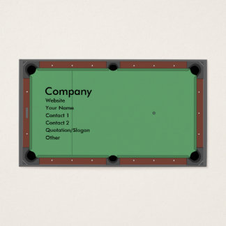 Pool Table Business Card