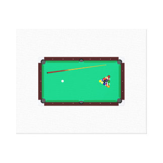 Pool Table Gallery Wrapped Canvas