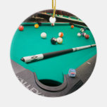 Pool Table Ceramic Ornament