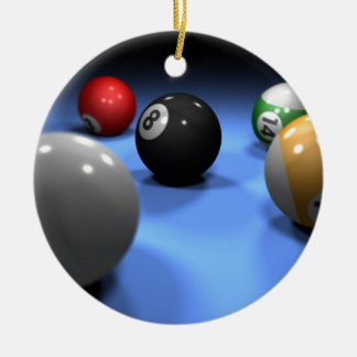 Pool Table Ceramic Ornament
