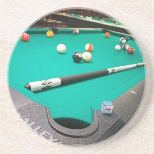 Pool Table Drink Beverage Coasters Zazzle - Kickball pool table