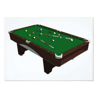 Pool Table Invitations