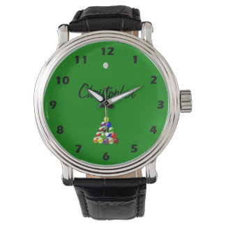 Pool Table Just Add Name Wrist Watches