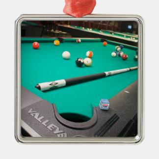 Pool Table Metal Ornament