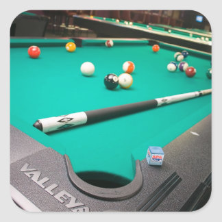 Pool Table Square Sticker