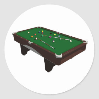 Pool Table Stickers Round Sticker