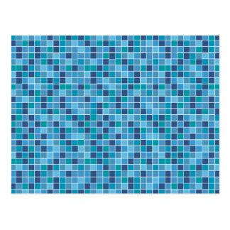 Pool tile pattern postcard