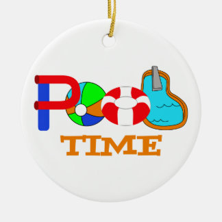 Pool Time Ceramic Ornament