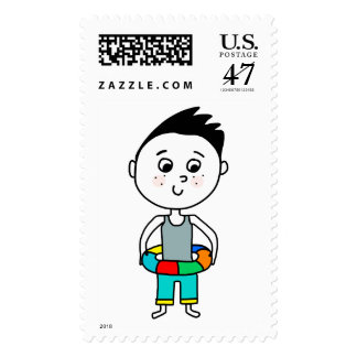 Pool Time Postage Stamps