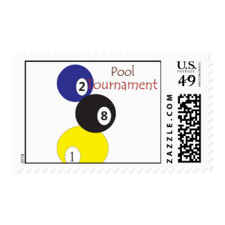 pool tournament postage stamps