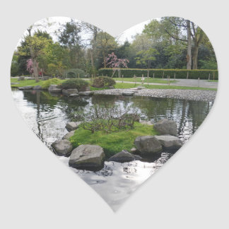 Pool & Trees Heart Sticker