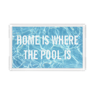 Pool Water Acrylic Tray