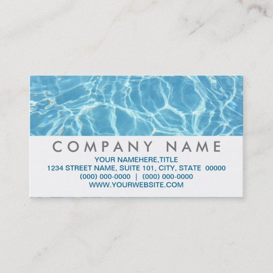 Pool water business cards zazzle pool water business cards colourmoves