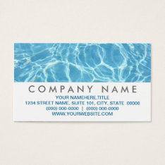 Pool Water Business Cards at Zazzle