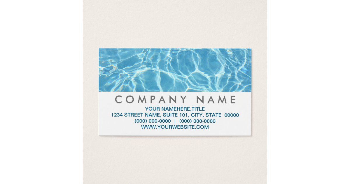Water Business Cards & Templates   Zazzle