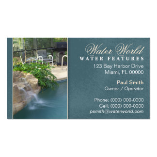 Pool Water Feature Business Card