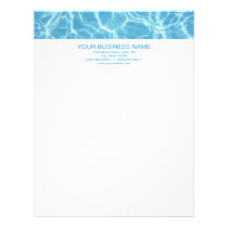 Pool Water Letterhead