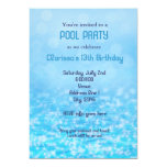 Pool Water Swim Swimming Summer Beach Party Personalized Announcement